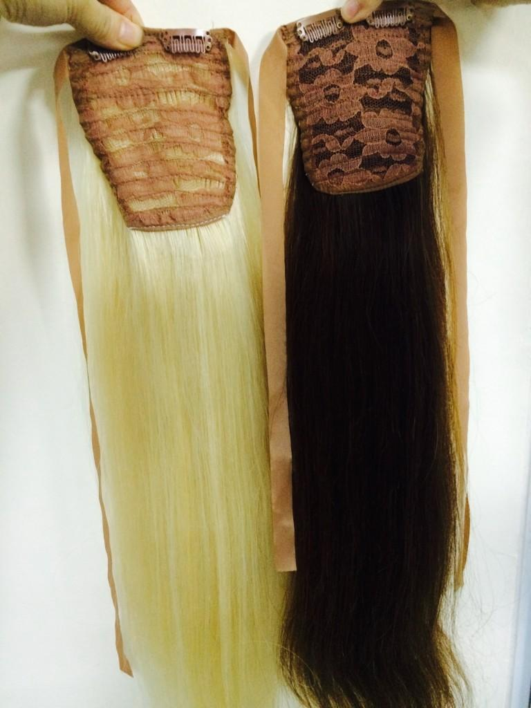 Cambodian ponytails blonde and black