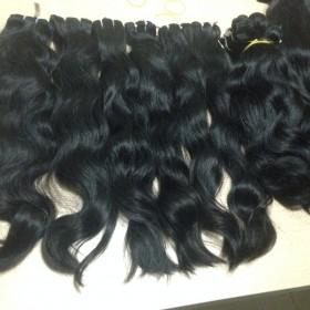 Double drawn machine weft body wavy hair 18'' color #1b