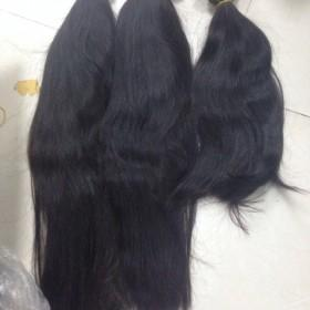 Double drawn machine weft natural wavy color #1b 12'',22''