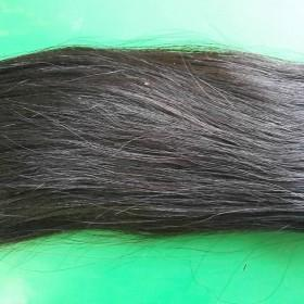 Double drawn machine weft straight hair color #1b 14''