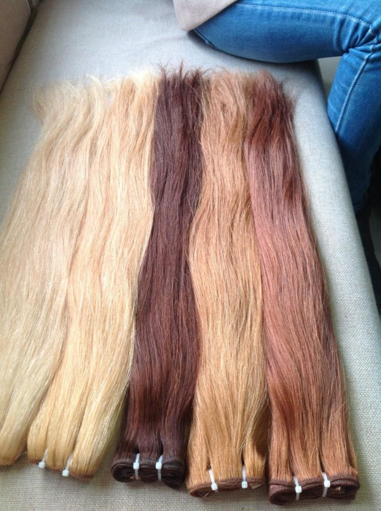 Double drawn machine weft straight hair color #60,613,8,16,27