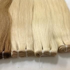 Double drawn machine weft straight hair color #8,613,60