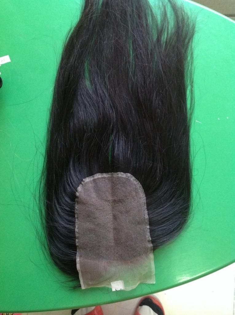 Lace closure straight hair 18'' size 5''x5''