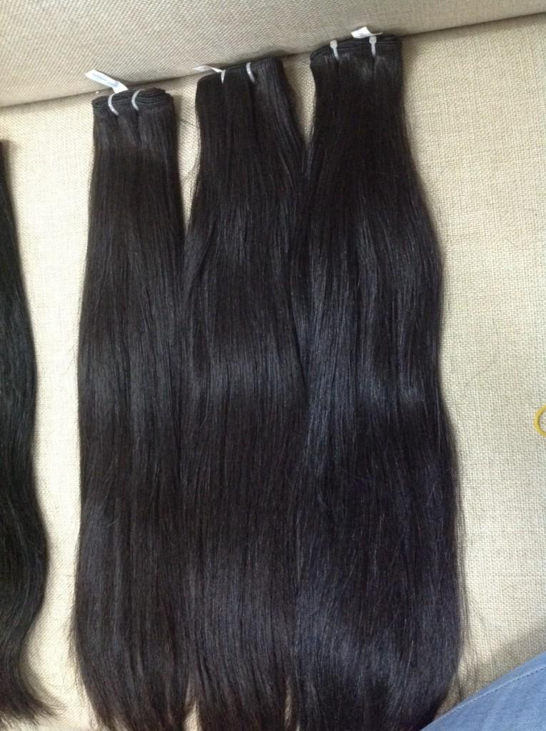 Virgin hair from only one girl - weft straight color #1b 22''