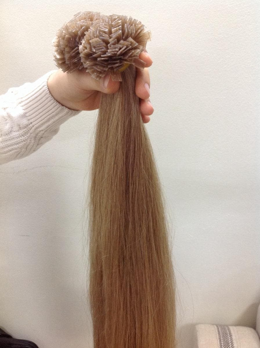 Pre Bonded Hair Extensions Flat Tips Straight Hair Color