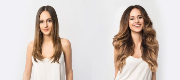 hair extensions with golden tips