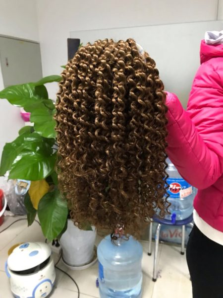 double weft curly hair color 5 (1)
