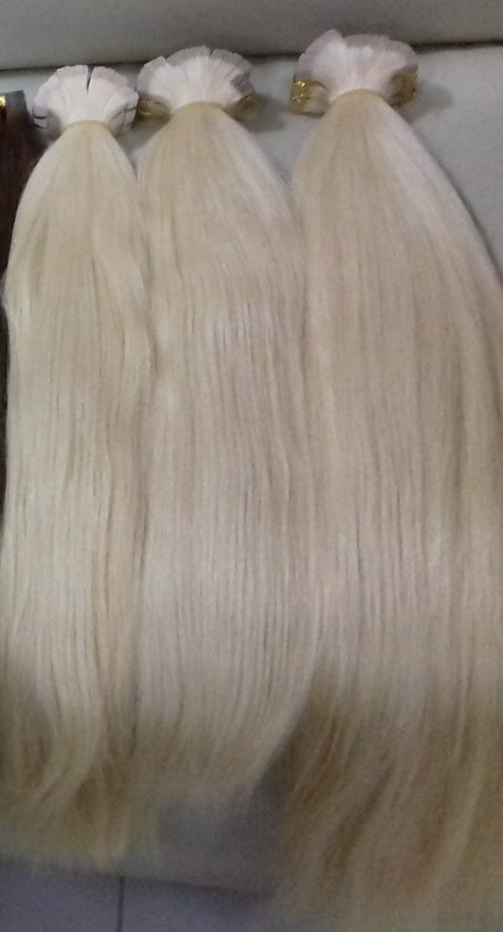Vietnam remy tape straight hair blond color 1