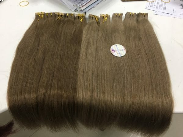 Vietnam remy tape straight hair blond color