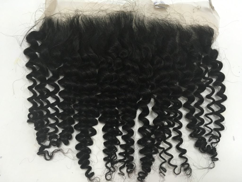DEEP CURLY BLACK COLOR LACE CLOSURE