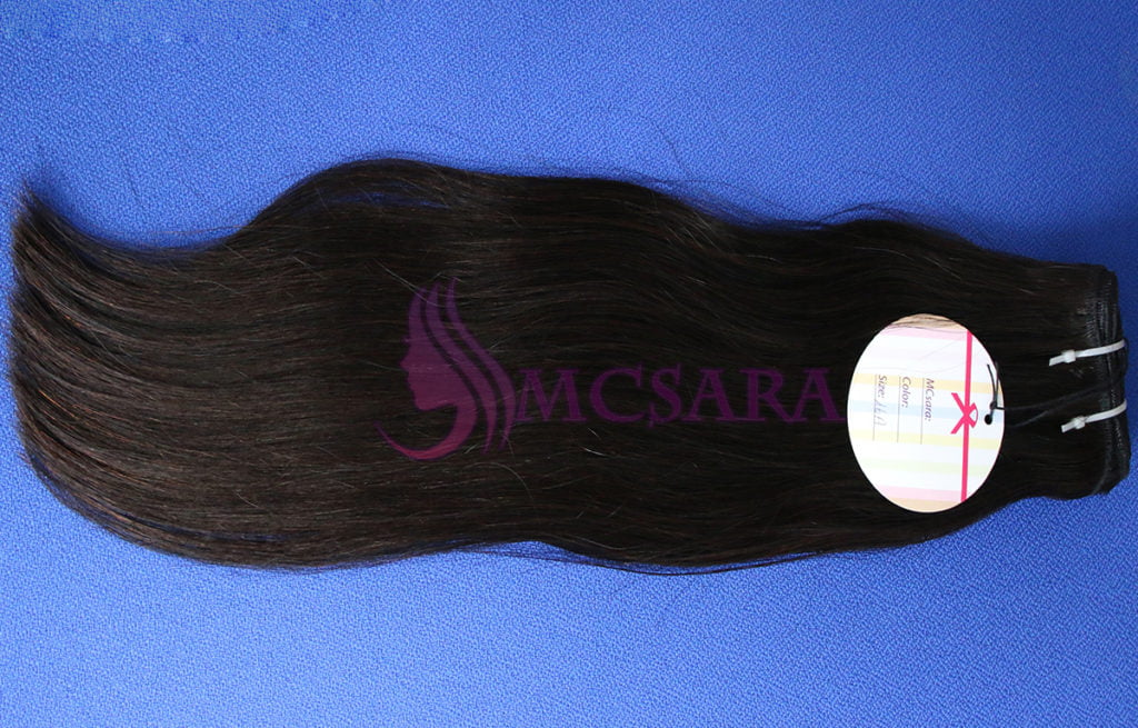 Weft hair black color - logo 3