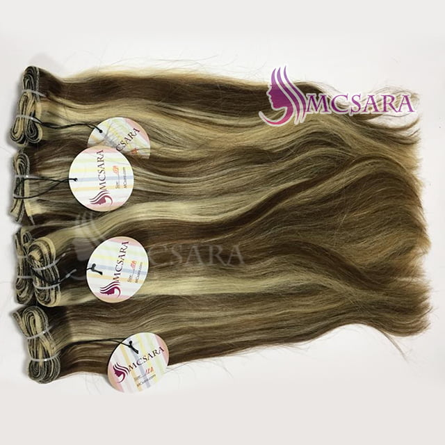 22 Inch Double Drawn Weave Straight Mix Piano Color Hair