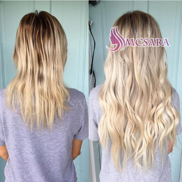 before and after of tap in hair extension
