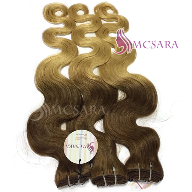 22 Inches Weaves Water Wavy Hair Extensions Ombre Color