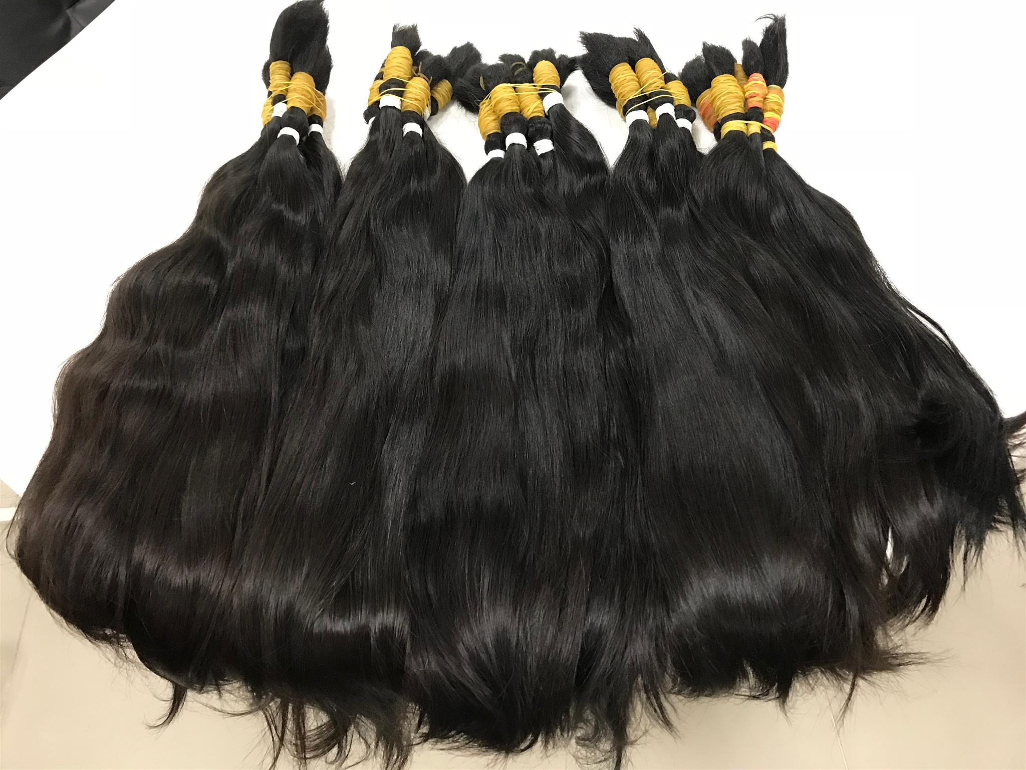Thin Hair Extensions Black Color