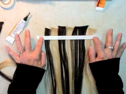 How to make clip in hair 1