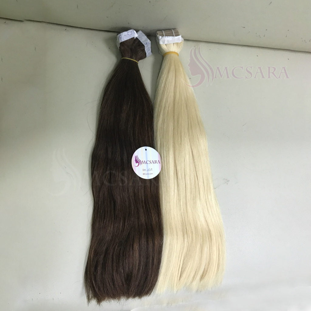 tape in hair brown and blonde color